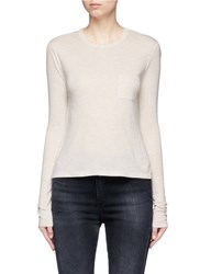 Alexander Wang Patch Pocket Long Sleeve T Shirt Pink