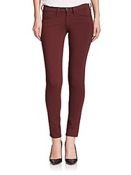 Rag And Bone The Mid Rise Ponte Leggings Burgundy