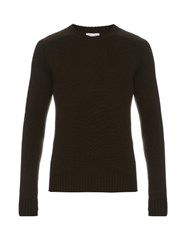 Tomas Maier Cashmere Crew Neck Sweater Green