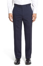 Men's Santorelli Flat Front Check Stretch Wool Trousers