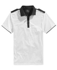 Guess Men's Heather Mason Polo Shirt True White Multi