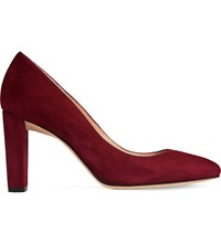 Lk Bennett Marcella Slip On Suede Court Shoes Red Truffle