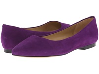 Trotters Estee Purple Kid Suede Leather Women's Slip On Dress Shoes