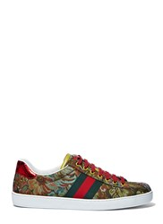Gucci Floral Jacquard Sneakers Green