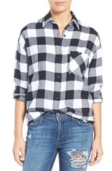 Rails Women's 'Jackson' Plaid Shirt White Black Check