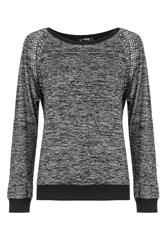 Quiz Grey Diamante Long Sleeve Jumper