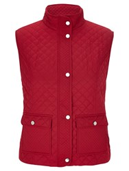 Viyella Petite Quilted Gilet Red