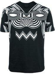 Les Hommes Printed Shortsleeved T Shirt Black