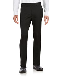 Calvin Klein Straight Leg Suit Pants Black