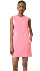 Victoria Beckham Panel Shift Dress Candy Pink