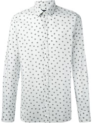Lanvin 'Pool Spider' Print Shirt Nude And Neutrals