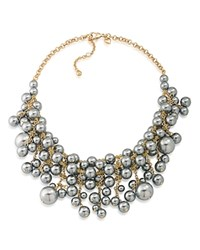 Carolee Statement Necklace 16 Gold Gray