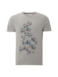 White Stuff Cyclists Graphic Tee Grey Marl