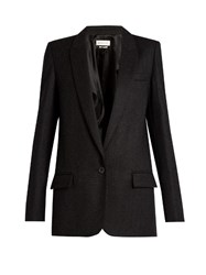 Etoile Isabel Marant Igor Single Breasted Wool Blend Jacket Dark Grey
