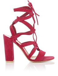 Gianvito Rossi Lace Up Gladiator Sandals Pink