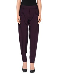 Liviana Conti Trousers Casual Trousers Women Purple