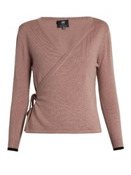 Pepper And Mayne Cashmere Ballet Wrap Cardigan Light Pink