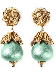 Katheleys Vintage 'Baroque' Earrings Green