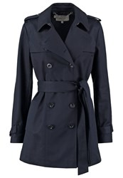 Hobbs Sara Mac Trenchcoat Navy Dark Blue