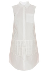 Derek Lam Shirt Dress With Organza Grid