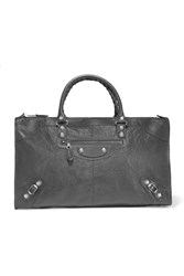 Balenciaga Giant 12 Work Textured Leather Tote Gray