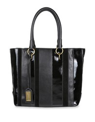 Badgley Mischka Natalie Leather And Calf Hair Tote Black