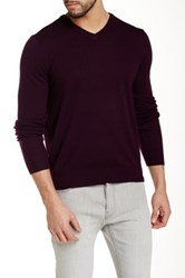 Toscano V Neck Wool Sweater Brown