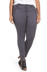 Addition Elle Love And Legend Plus Size Women's Power Stretch Skinny Pants Black Pearl