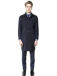 Salvatore Piccolo Stretch Wool Twill Coat