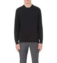Slowear Crewneck Wool Blend Jumper Navy