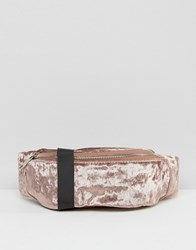 Asos Velvet Bum Bag Mink Brown
