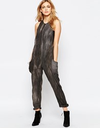 Hazel Washed Slouchy Jumpsuit Charcoal Grey