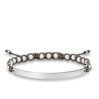 Thomas Sabo Pearl Macrame Love Bridge Bracelet White