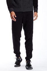 Quinn Carlyle Cashmere And Genuine Leather Jogger Black