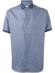Brioni Checked Short Sleeved Shirt