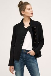 Anthropologie Military Sweater Coat Black