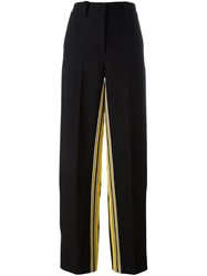 Cedric Charlier Stripe Detail Trousers Black