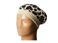 San Diego Hat Company Knh3316 Leopard Knit Beret Ivory Berets White