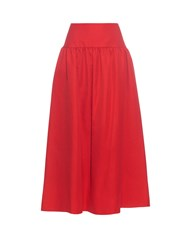 Sonia Rykiel Gathered Linen And Cotton Blend Skirt
