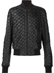 Rick Owens 'Glitter Flight' Bomber Jacket Black