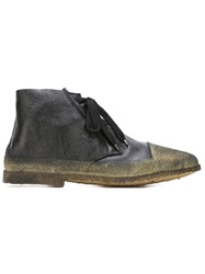 Rocco P. Paneled Lace Up Boots Black