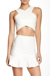Donna Mizani V Strap Crop Top White