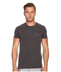 Todd Snyder Weathered Button Crew Tee Charcoal Men's T Shirt Gray