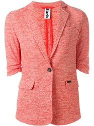 Bark Melange Knit Blazer Red
