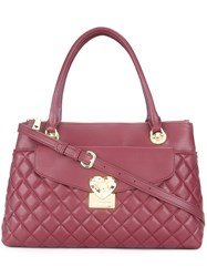 Love Moschino Quilted Shoulder Bag Red