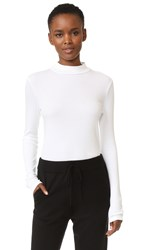 Splendid 1X1 Modal Ribbed Turtleneck White