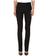 Lisette L Montreal Solid Magical Lycra True Straight Black Women's Casual Pants
