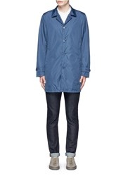 Aspesi 'Limone' Taffeta Raincoat Blue