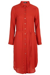 Runaway Shirt Dress By Goldie Orange