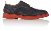 Thom Browne Men's Padded Detail Wingtip Brogues Black
